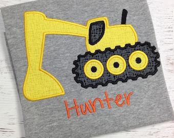 Excavator shirt, Construction shirt, Excavator birthday, Boy Excavator, boy construction shirt, Excavator Birthday party