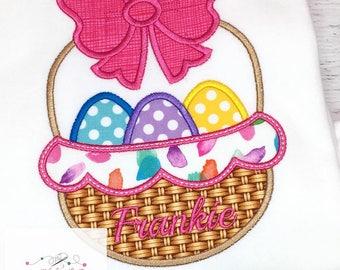 Girls Easter Egg Shirt, Girls Easter Shirt, Easter Egg Shirt, Basket of Eggs Shirt, Easter Girl's outfit