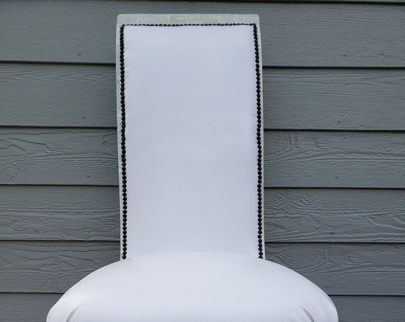 Newspaper Print Accent Chair