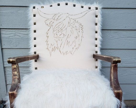 Scottish Highland Accent Chair