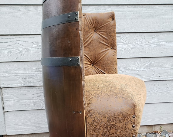Half Barrel Accent Chair