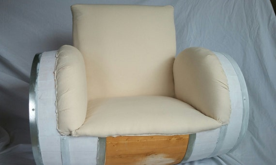 Accent Chair - Customize Me! 50 Gallon Barrel Upholstered Accent Chair Home Decor