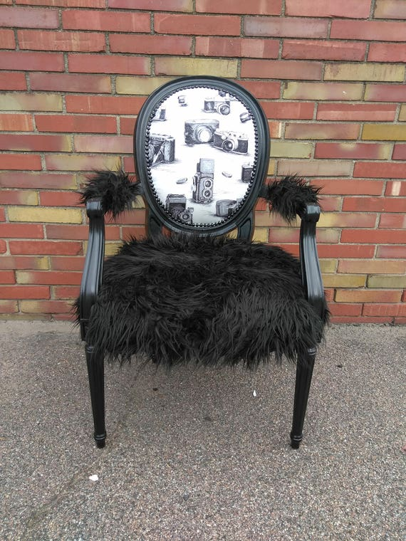Vintage Camera Accent Chair