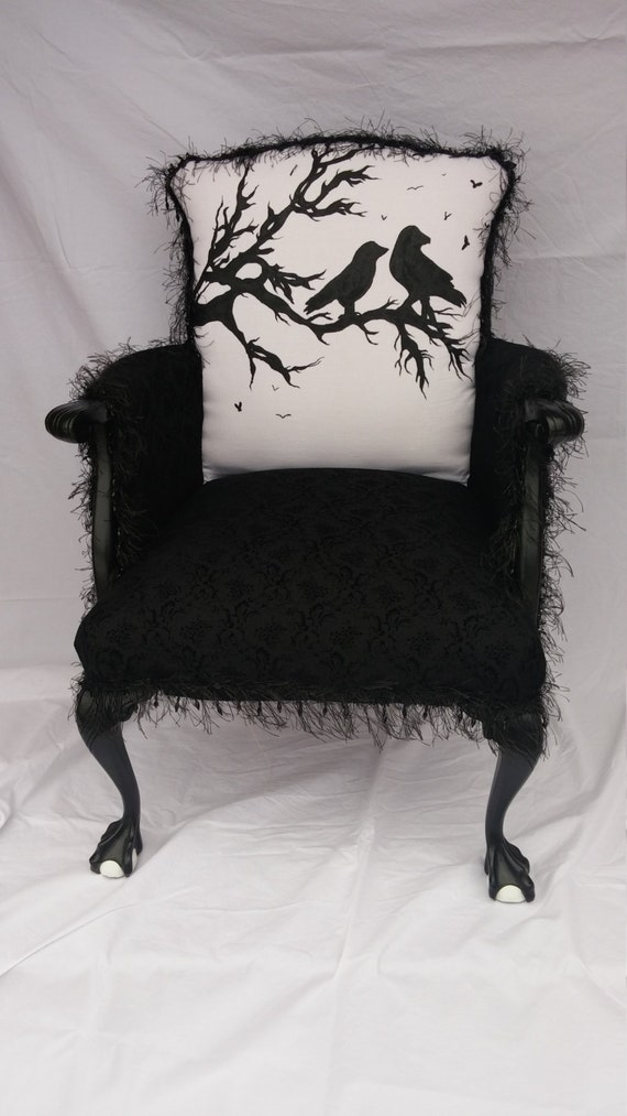 Raven Silhouette Accent Chair