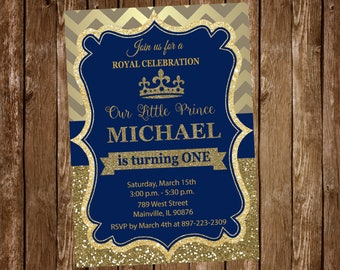 Prince Invitation Etsy