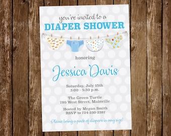 Diaper invitation etsy diaper shower invitation diaper baby shower diaper invitation diaper party baby boy boy baby diaper shower digital or printed filmwisefo