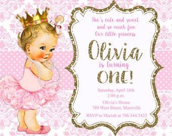 pink gold invitation etsy