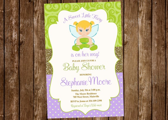 Tinkerbell baby shower invitation tinkerbell fairy magical etsy image 0 filmwisefo
