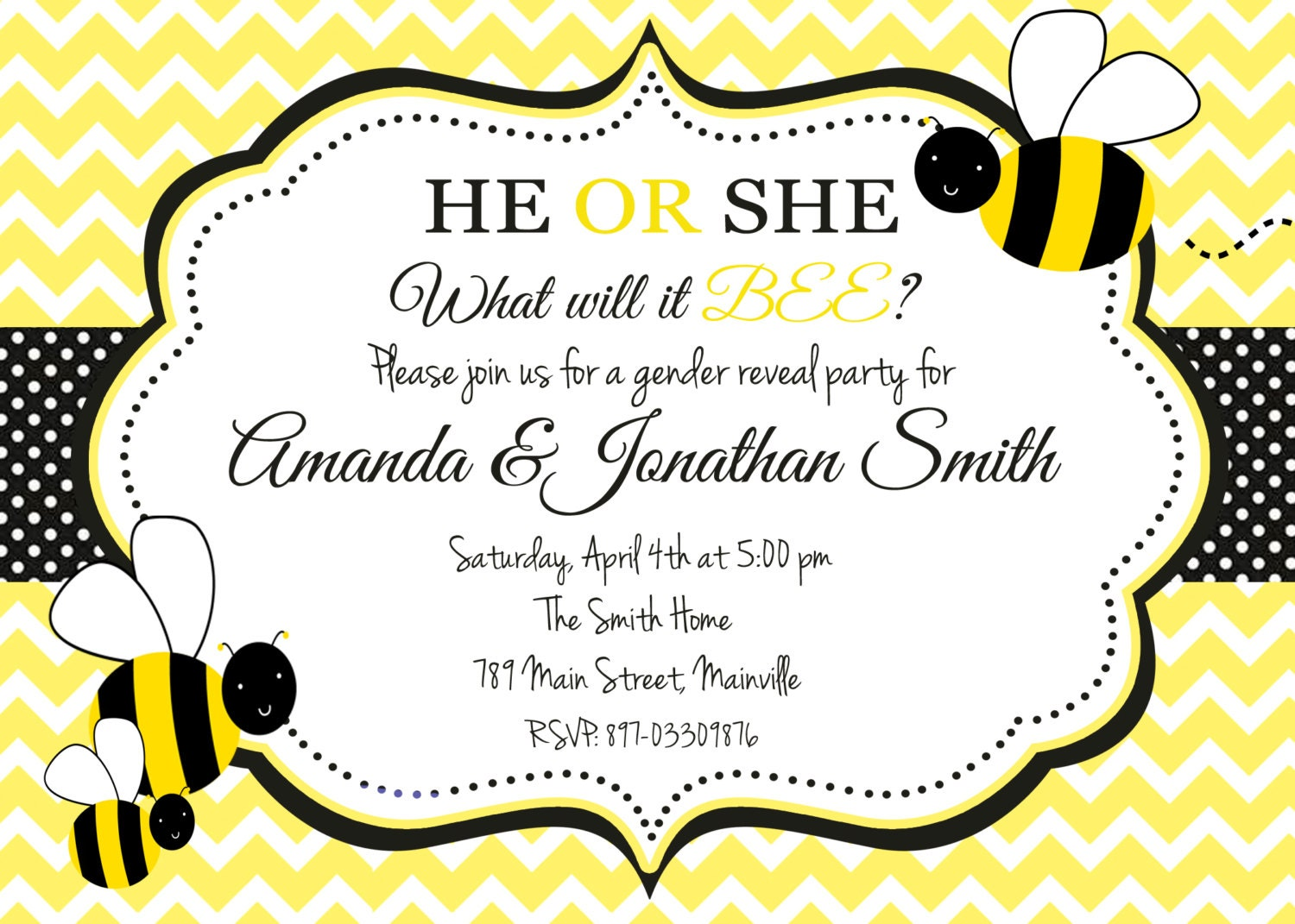 Bumble Bee Honey Bee Bumblebee Gender Reveal Party | Etsy