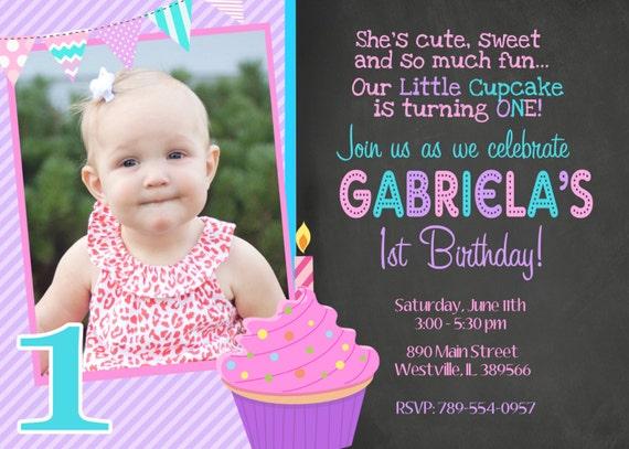 Cupcake birthday party cupcake invitation first birthday etsy image 0 filmwisefo