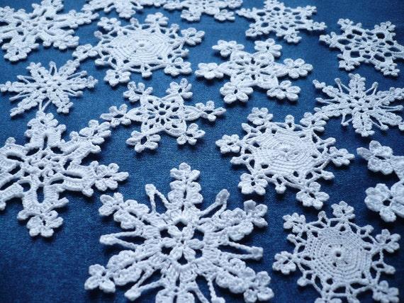 Weiße Schneeflocken Häkeln Schneeflocken Winterdekoration Etsy