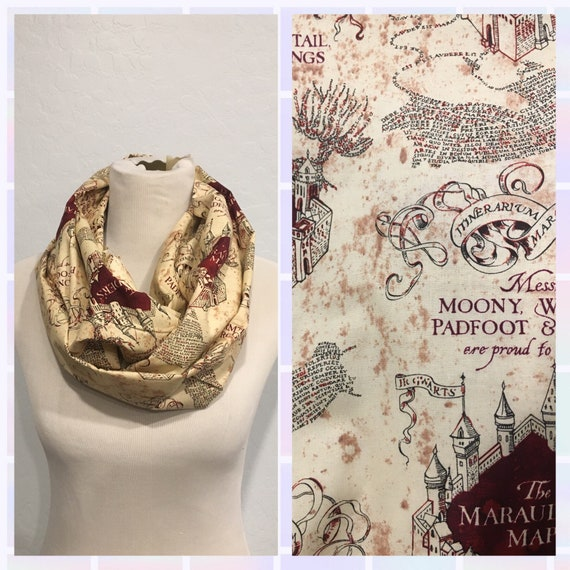 Harry Potter Scarf Marauders Map by Etsy