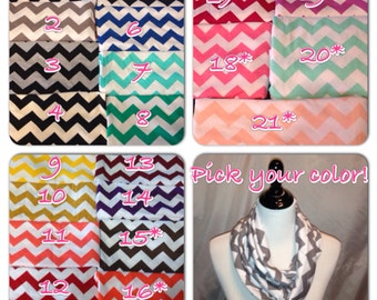 22 Colors available- Chevron Scarf Infinity or non infinity