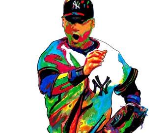 a8da52f0b Derek Jeter, New York Yankees, Baseball Shortstop, All-Star Game MVP,  Sports, POSTER from Original Dwg 18