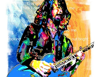 DAVE GRHOL Poster FOO FIGHTERS Tribute Art with Free Shipping US Foo Fighters Rock & Pop