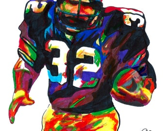 30b1cfdd340 Franco Harris, Pittsburgh Steelers, Fullback, Running Back, Football,  POSTER from Original Drawing 18