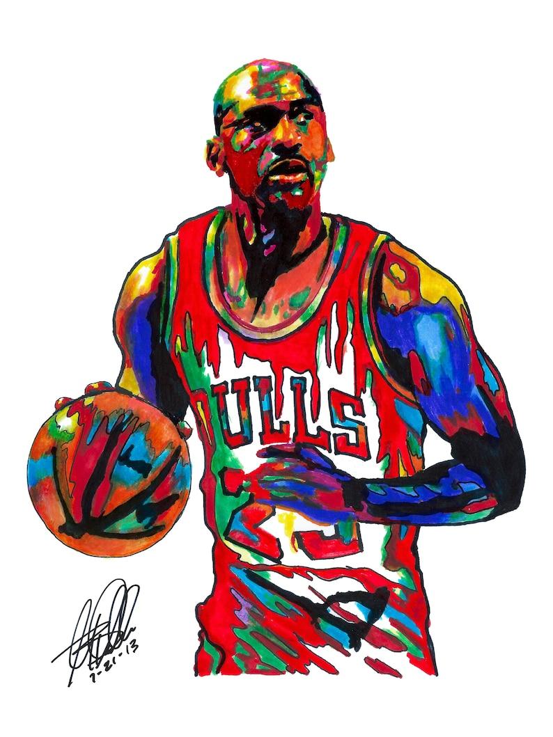 203d4f0f56 Michael Jordan Chicago Bulls Shooting Guard Basketball   Etsy