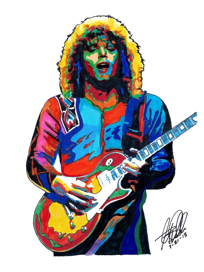 Gary Richrath REO Speedwagon Guitar Pop Rock Music Poster Print Wall Art  18x24 Signed Dated by Artist