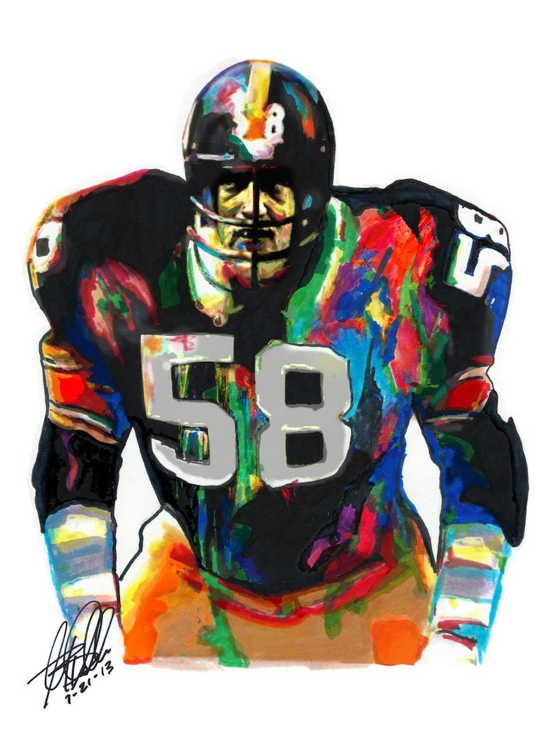 sale retailer 769f0 bca22 Jack Lambert, Pittsburgh Steelers Middle Linebacker, Pro Football, Sports,  POSTER from Original Dwg 18