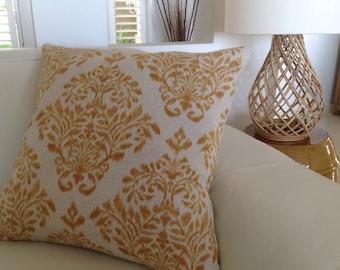 Designer Cushion Cover Modern Pillows, Mustard Pillows, Tact Honey, Charcoal Cushions Urban Coastal Ikat Designer Pillows Natural Scatter