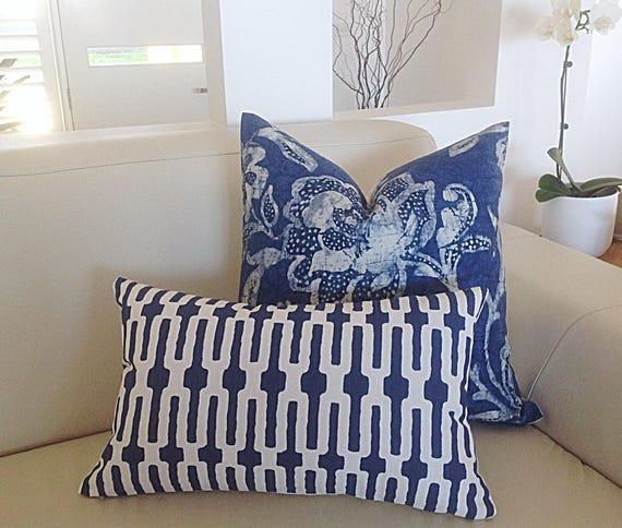 Hampton Style Airy Linens Fresh Blues: Cushions Blue And White Pillows Hamptons Style Cushion