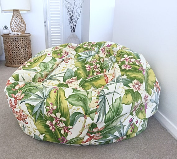 Superb Outdoor Bean Bag Beanbag Cover Only Paradise Point Indoor Outdoor Bean Bags Tropical Outdoor Bean Bags Cjindustries Chair Design For Home Cjindustriesco