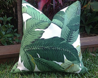 Palm Leaf Cushions, Banana Leaf Outdoor Cushions, Cushion Cover, Outdoor Pillows Tropical Pillow Covers, Cushion Covers,  Tropical Pillows