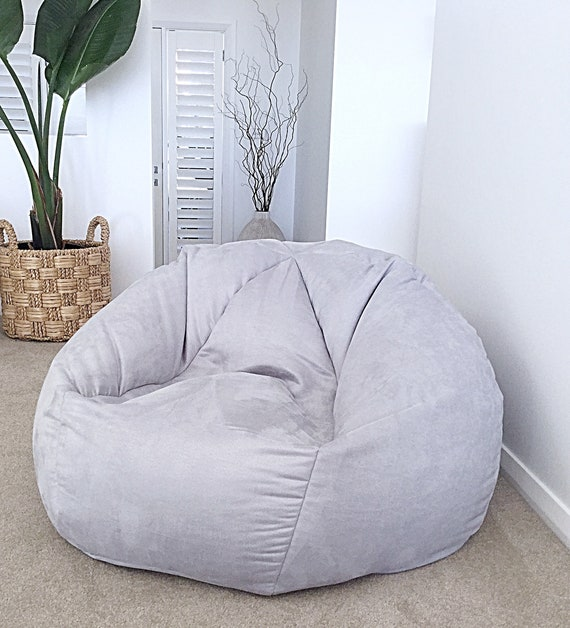 Brilliant Bean Bag Faux Suede Designer Bean Bag Cover Only Grey Bean Bag White Tan Suede Look Bean Bag Cover Pale Blue Navy Pink Bean Bag Cover Beatyapartments Chair Design Images Beatyapartmentscom