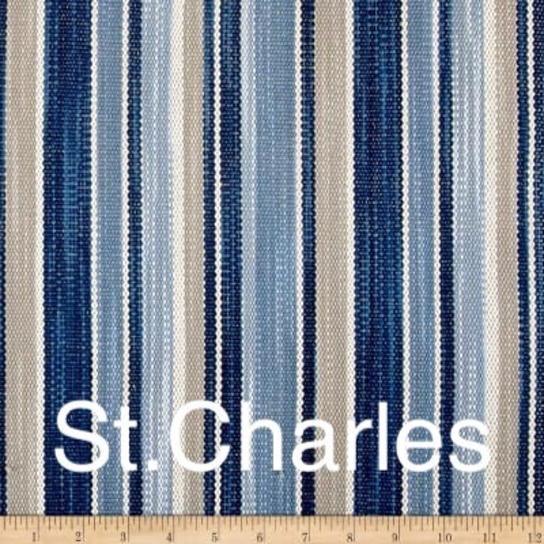 Cover Only Hamptons Style Cushions Linen Cushions Blue Stripe Cushions Hamptons Striped Pillows Cover Only Blue Pillow Blue Floral