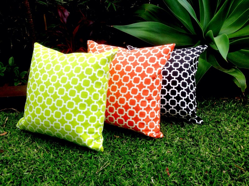 Geometric Outdoor Cushions Yellow Outdoor Pillows Black Red Navy Outdoor Modern Havana Decorative Scatter Cushions Modern Retro Pillows