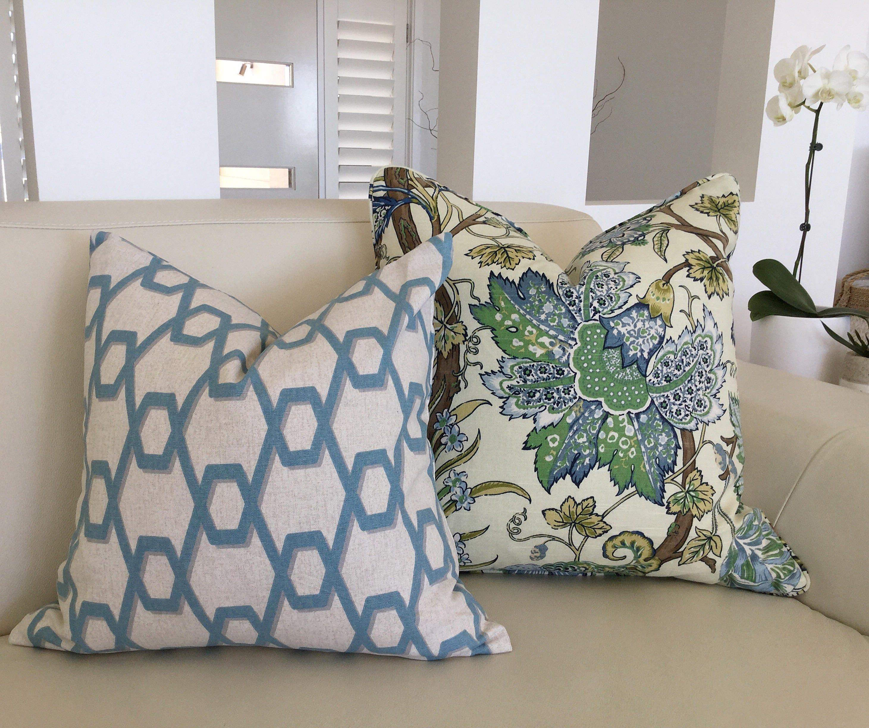 Hampton Style Airy Linens Fresh Blues: Hamptons Style Cushions Hampton's Pillows. Cushion Cover