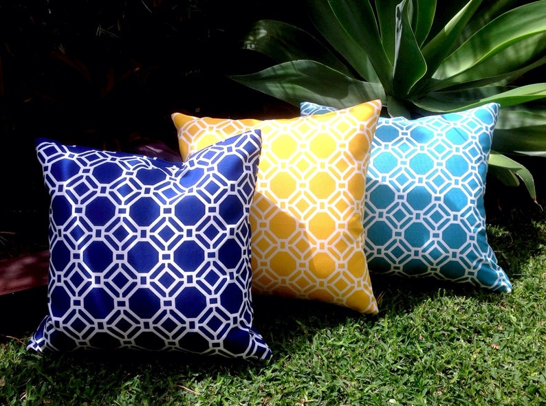Navy Outdoor Cushions Yellow Outdoor Pillows Cushion Cover Turquoise Outdoor Modern Octo Decorative Scatter Cushions Modern Retro Pillows
