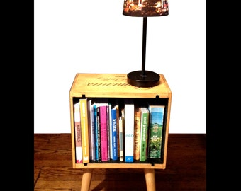 Wine Box End Table Night Stand Bookshelf