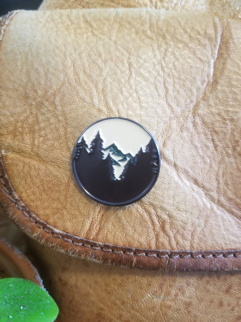 Enamel Pin   Mountain Adventure Pin  UO Myth Logo  1 Inch image 0