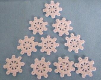 Cotton  Crochet  ships wheel  motifs