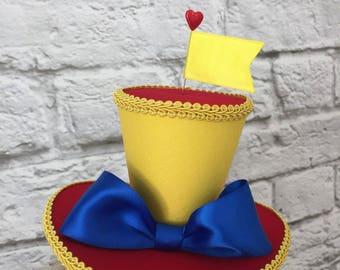 Tweedledee Tweedledum Mini Top Hat, Alice in Wonderland Top Hat, Mad Hatter Mini Top Hat
