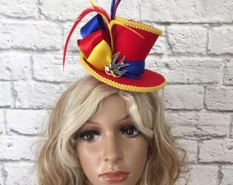 Bluebird Mini Top Hat, Mad Hatter Mini Top Hat, Sparrow Mini Top Hat