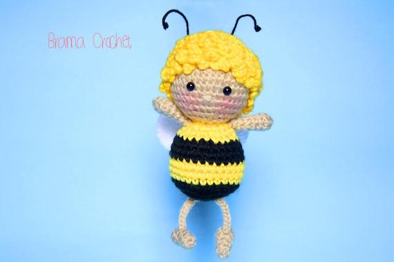 Die Biene Maja Handgemachtes Amigurumi Häkeln Puppe Kawaii Etsy
