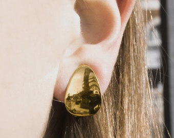 Sterling Silver Gold Plated Clip on Earrings - a Perfect Gift for an Earring lover