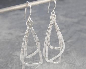 USA vendeur triangle spirale Boucles d/'oreille Argent Sterling 925 BEST DEAL Bijoux