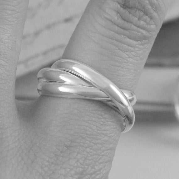 Silver Plain Russian Wedding Ring For Men And Women Unisex Etsy
