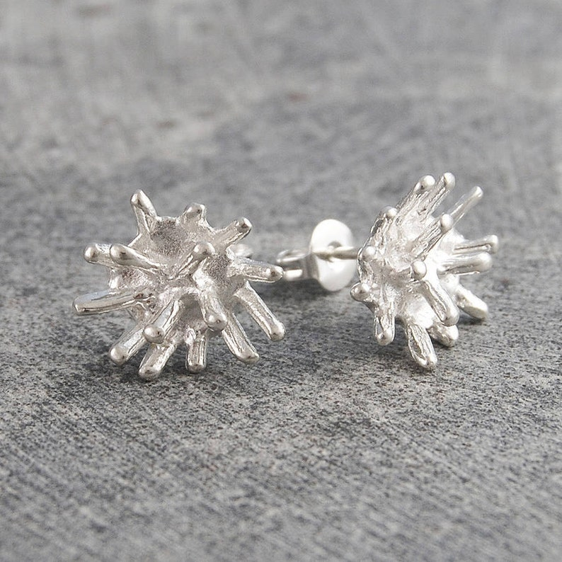925 Earrings Stud Earrings Organic Earrings Studs Nature Earrings Silver Earrings Edgy Earrings Small Stud Earrings Silver Studs