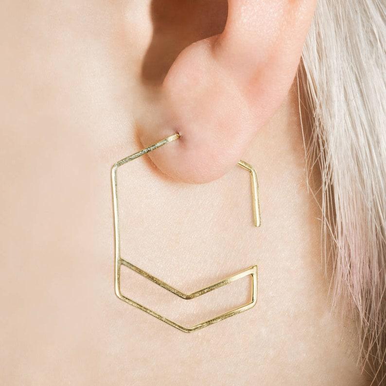 4a15fb22ce022 Gold Hexagon Hoop Earrings-Gold Hoops-Geometric Hoop Earrings-Minimalist  Earrings-Fashion Jewellery-Gold Earrings-Etsy Hoops-Gift under 30