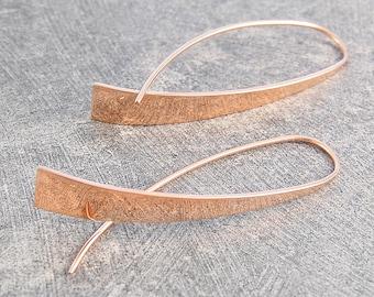 Modern Earrings, Rose Gold Earrings, Geometric Drop Earrings, Dangly Drop Earrings, Statement Earrings, Designer Earrings, Unusual Earrings