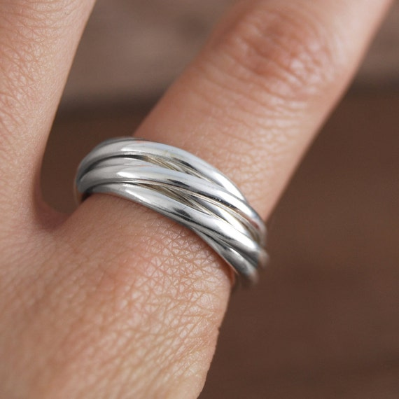 Russian Wedding Ring 925 Silver Ring Classic Ring Stackable Etsy