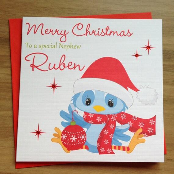 Handgemachte personalisierte nette Weihnachtskarte   Etsy