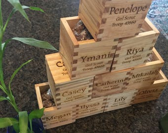 Personalized Wooden Planter Box