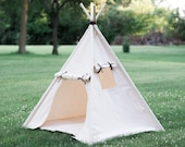 Kids Teepee Play Tent with Roll Up Door and Window, Two Great Sizes, Ready to Ship Fully Assembled
