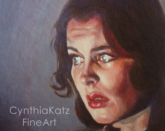 Art Print Reproduction // What are you Afraid of? // Original Acrylic Painting // Movie Art // Vivian Leigh // 16 cm x 16 cm // Cynthia Katz