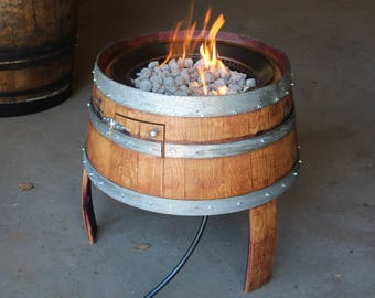 Small Fire Pit/ Wine Barrel Fire Pit/ Outdoor Furniture/Fire Pit/Free shipping